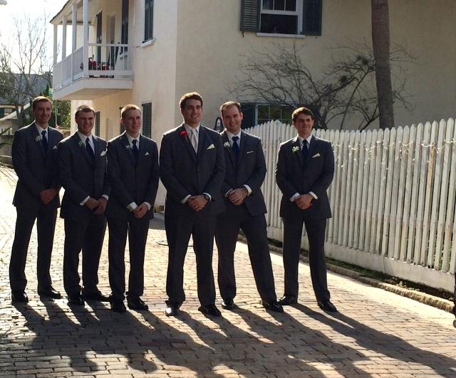Groomsmen on Aviles Street, St. Augustine, Florida