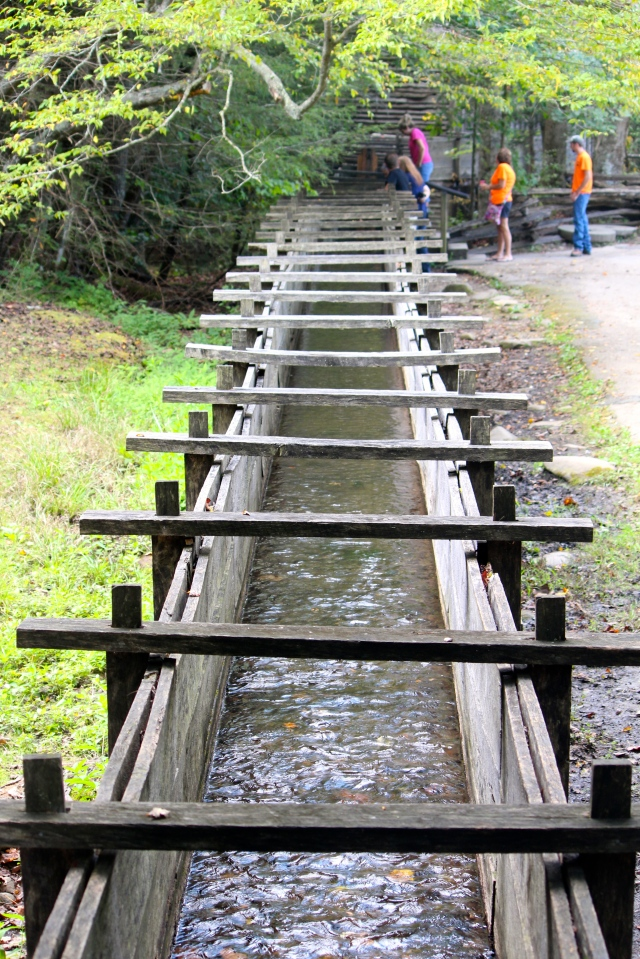 Wooden sluice, Cades Cove TN