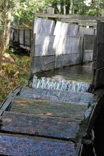 Water turning the wheel in Cades Cove TN
