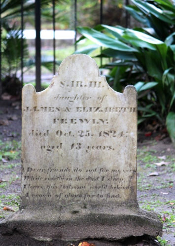 Grave in the cemetery at Christ Church