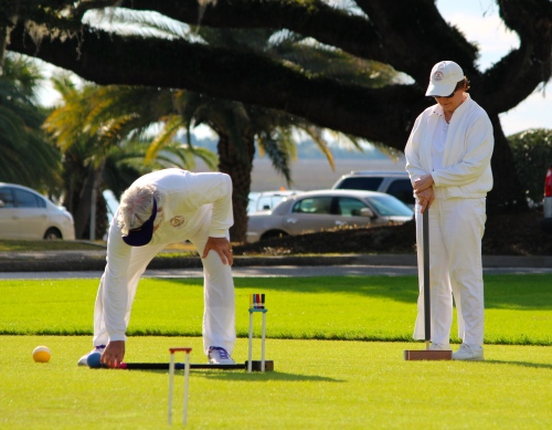 A game of croquet on the lawn of the Jekyll Island Club