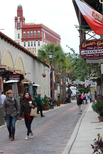 Strolling St. George Street, St. Augustine, Florida