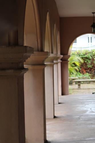Walkway behind Gonzalez-Alvarez House, St. Augustine