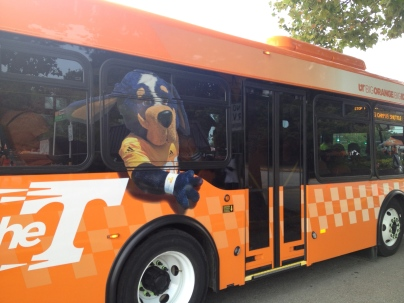Smokey takes a spin around campus.