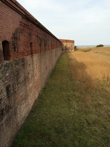 Wall at Fort Clinch