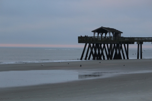 Sundown on the beach at Tybee Island