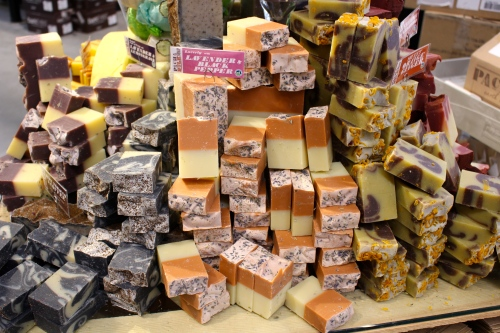 Colorful hand-made soap piled high at Whole Foods Knoxville