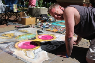 Michael Gunnels, Chalk Walk 2015 artist