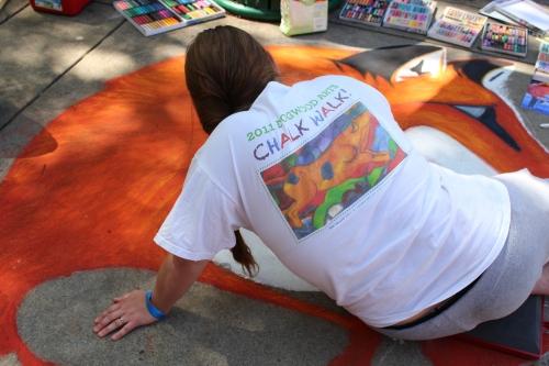 Artist working at Chalk Walk 2015