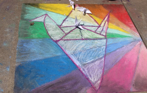 Montessori School entry -- Chalk Walk 2015