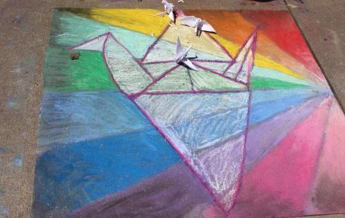 Montessori School entry -- Chalk Walk 2015