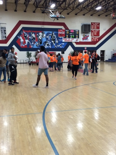 Dancing in the West High Gym at A Very Special Arts Festival