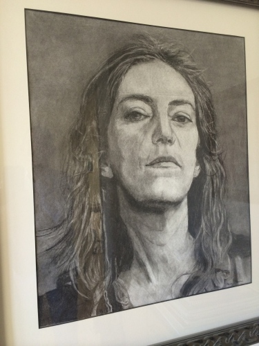Charcoal portrait by Diana Dee Sarkar