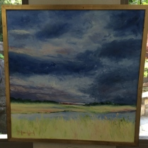 Impressionistic painting of sky and land by Melanie Wood