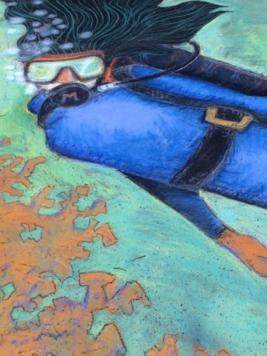 Diver by the McQuilkin Family. Winner: Second Place, Family Division.