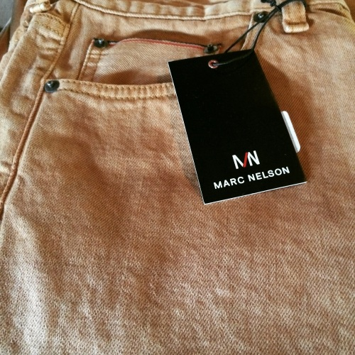 Whiskey dyed jeans from Marc Nelson Denim, Knoxville, Tennessee