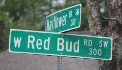 Red Bud Road sign, South Knoxville