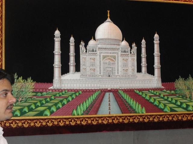 Stitchery of Taj Mahal