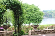 Rose Garden with view of lake -- Lane Hays