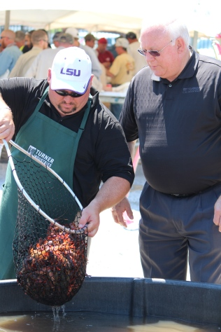 Dipping the crawfish