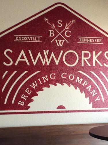 Logo:  Saw Works Brewing Company