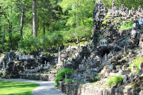 Side view of one section of Ave Maria Grotto in Cullman, AL