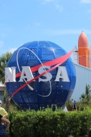 At entrance to Kennedy Space Center Visitor Complex