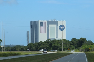 View from the bus: Kennedy Space Center Visitor Complex