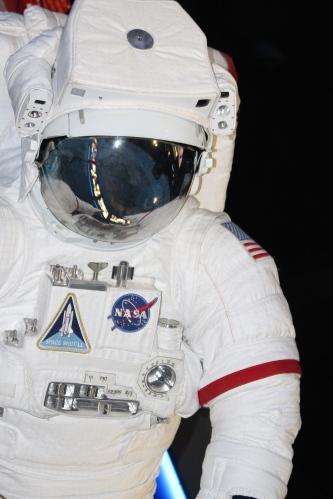 On exhibit at Space Shuttle Atlantis