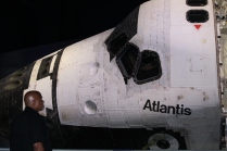 Standing nose-to-nose with Space Shuttle Atlantis
