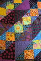 Colorful new fabrics,  traditional pattern: Tennessee Qulilts