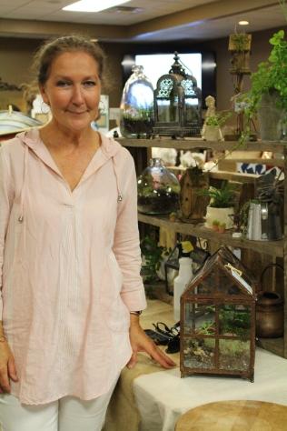 Liz Horton of H and H Botanicals creates terrariums and floral designs.