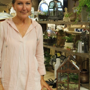 Liz Horton of H and H Botanicals creates terrariums and floral designs.