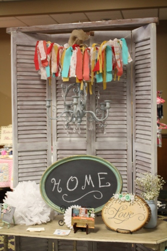 Cute display from Sweven Vintage and Rustic Rentals at The Traveling Bazaar.