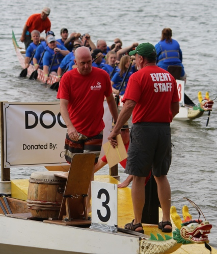 Ready to line up the boats at KARM Dragon Boat Festival 2015