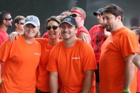 Ready to race in orange!