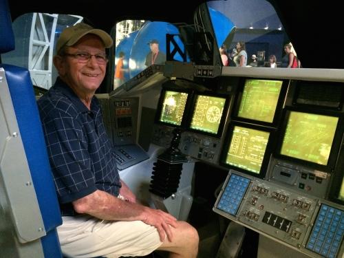 Bert takes control at the Atlantis exhibit