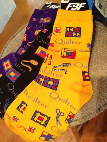 Quilter socks at Holloway's Country Home, Cosby, TN