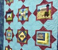 Shop Hop barn quilt variation -- Red Barn Custom Quilts