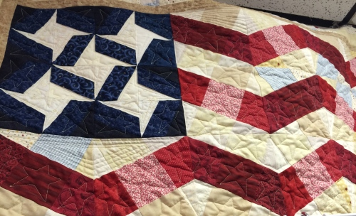 Pieced flag quilt -- Machine Quiltin' by Iva, Sevierville