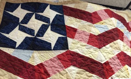 Pieced flag quilt -- Machine Quiltin' by Iva, Sevierville