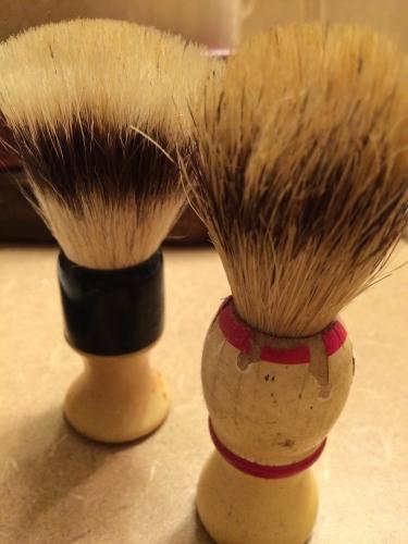 Antique shaving brushes
