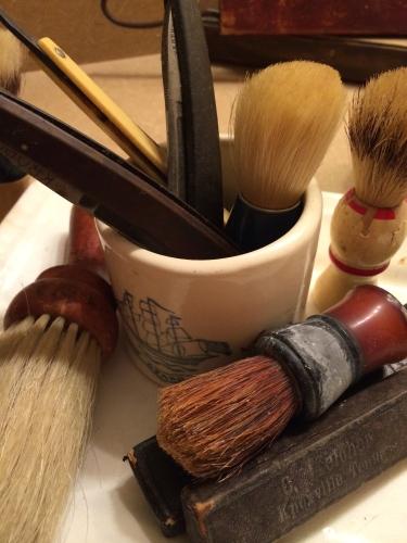 Shaving tools, antique
