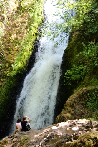 It's a 1.5 mile hike but worth it -- Bridal Veil Falls along Oregon's Hwy. 30.