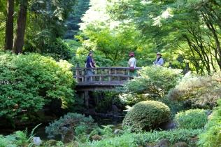 Bridge over calm waters -- Portland's Japanese Garden