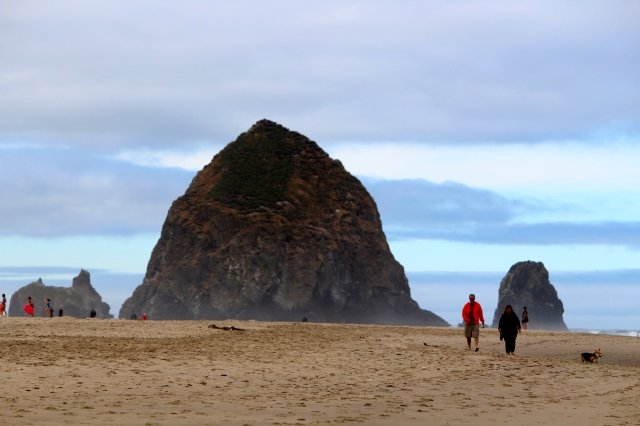 Haystack Rock at Cannon Beach -- Oregon's Pacific Coast Scenic Byway