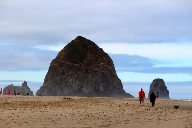 Haystack Rock at Cannon Beach -- Oregon's Pacific Coast Scenic Byway