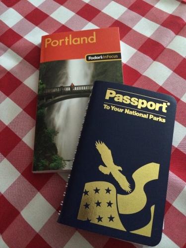 Portland tour book and Passport book