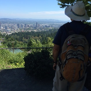 Just stand at the edge of the Pittock Mansion property for one of the best views of Portland on a clear day.