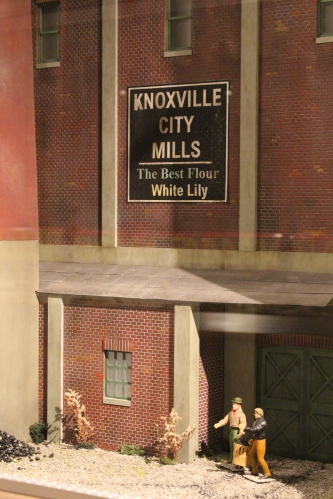 Knoxville warehouse district forms the backdrop for the entrance exhibit to the Howard Bros. Circus at The Ringling.